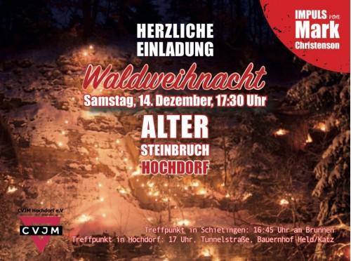 CVJM Waldweihnacht 2019 Anzeige Gemeindebrief